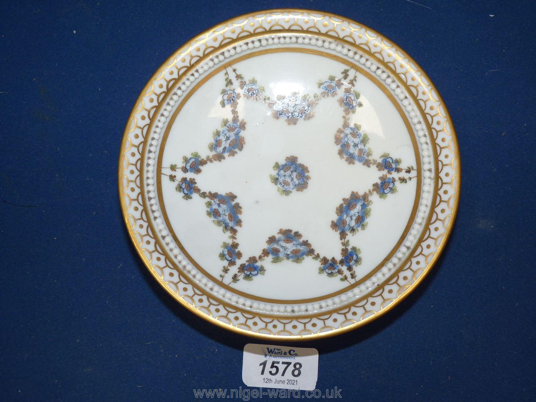 A fine Paris porcelain stand, la Courtille, late 18th early 19th c.