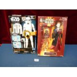 Two boxed Star Wars figures: EP1 Ultimate Hair Queen Amidala and Rogue 1 Imperial Storm Trooper.
