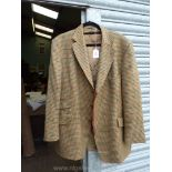 A gent's Magee checked sports Jacket in tan,