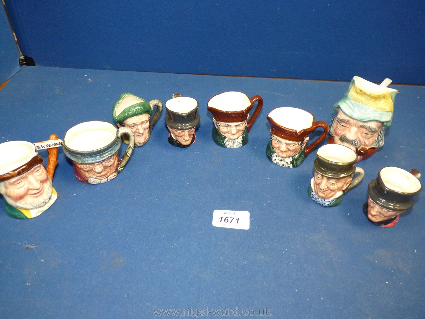A small quantity of Toby jugs including Gaffer, MiCawber, Auld Mac, Royal Doulton, Sandiland,