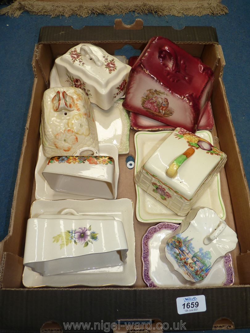 A quantity of butter dishes, stilton dome etc various decorations, Royal Staffordshire, - Image 2 of 2