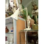 A 1960's cream angle poise lamp, rewired.