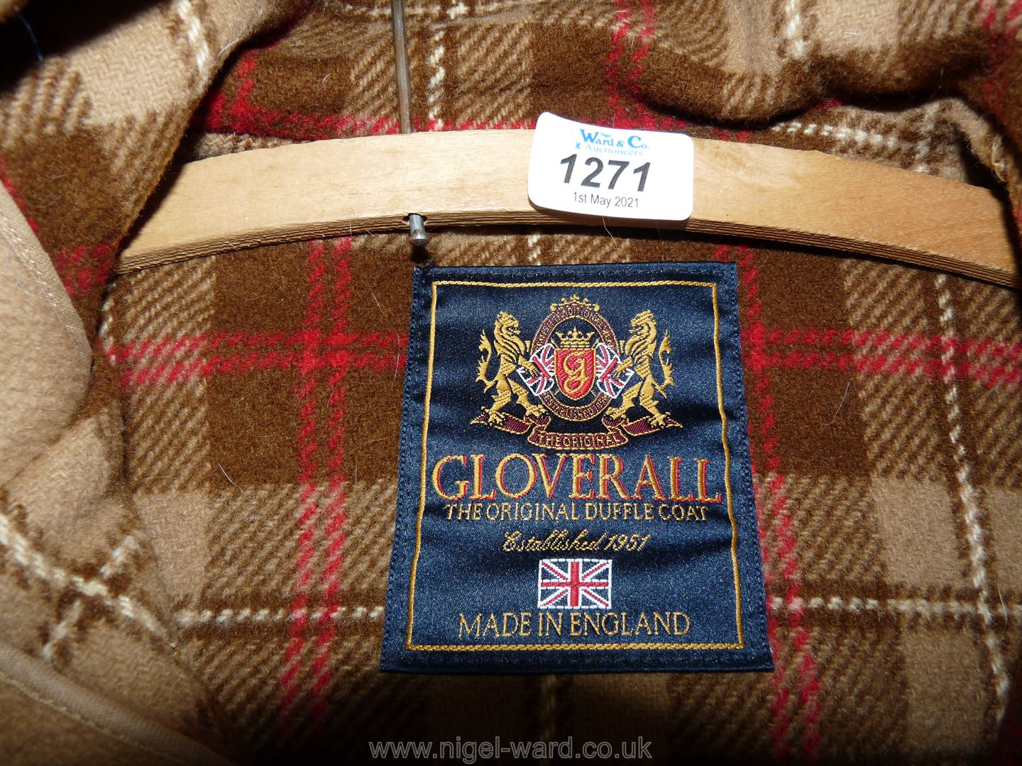 An origiinal camel duffle coat by Gloverall. - Image 2 of 3
