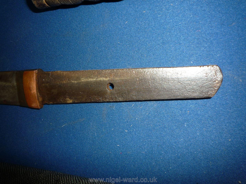 A remarkably sharp edged Samurai Sword/Katana, the blade rust marked, - Image 16 of 22