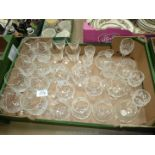 A quantity of cut glass and other glasses including Edinburgh crystal cut glasses,