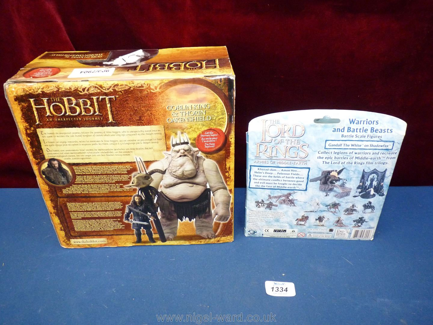 Three boxed figures from Lord of the Rings: Goblin King, Gandalf and Thorin Oakenshield. - Image 2 of 2
