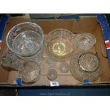 A quantity of glass including Stuart 'Fuchsia' pattern bowls, trifle bowl,