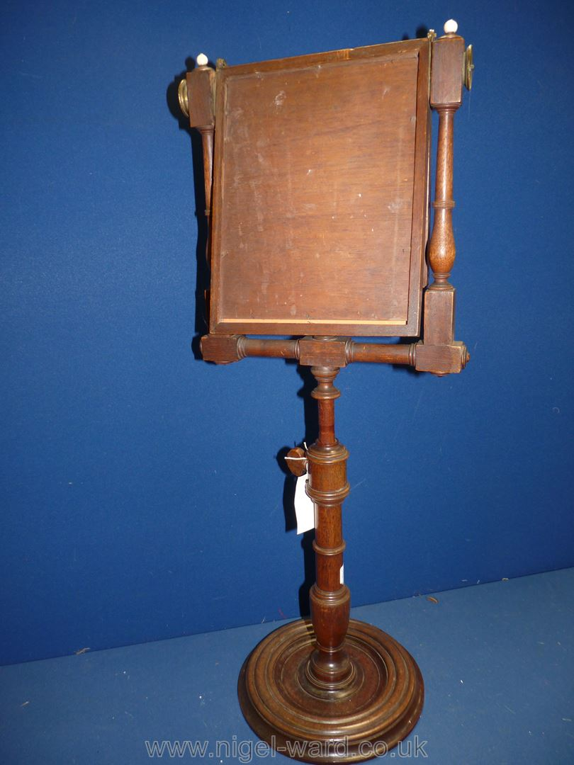 A George III Mahogany Zograscope with diced stringing to the border and fold over viewing glass, - Image 4 of 4