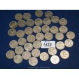 £1.95 in new five pence pieces, 1968 to 1980.