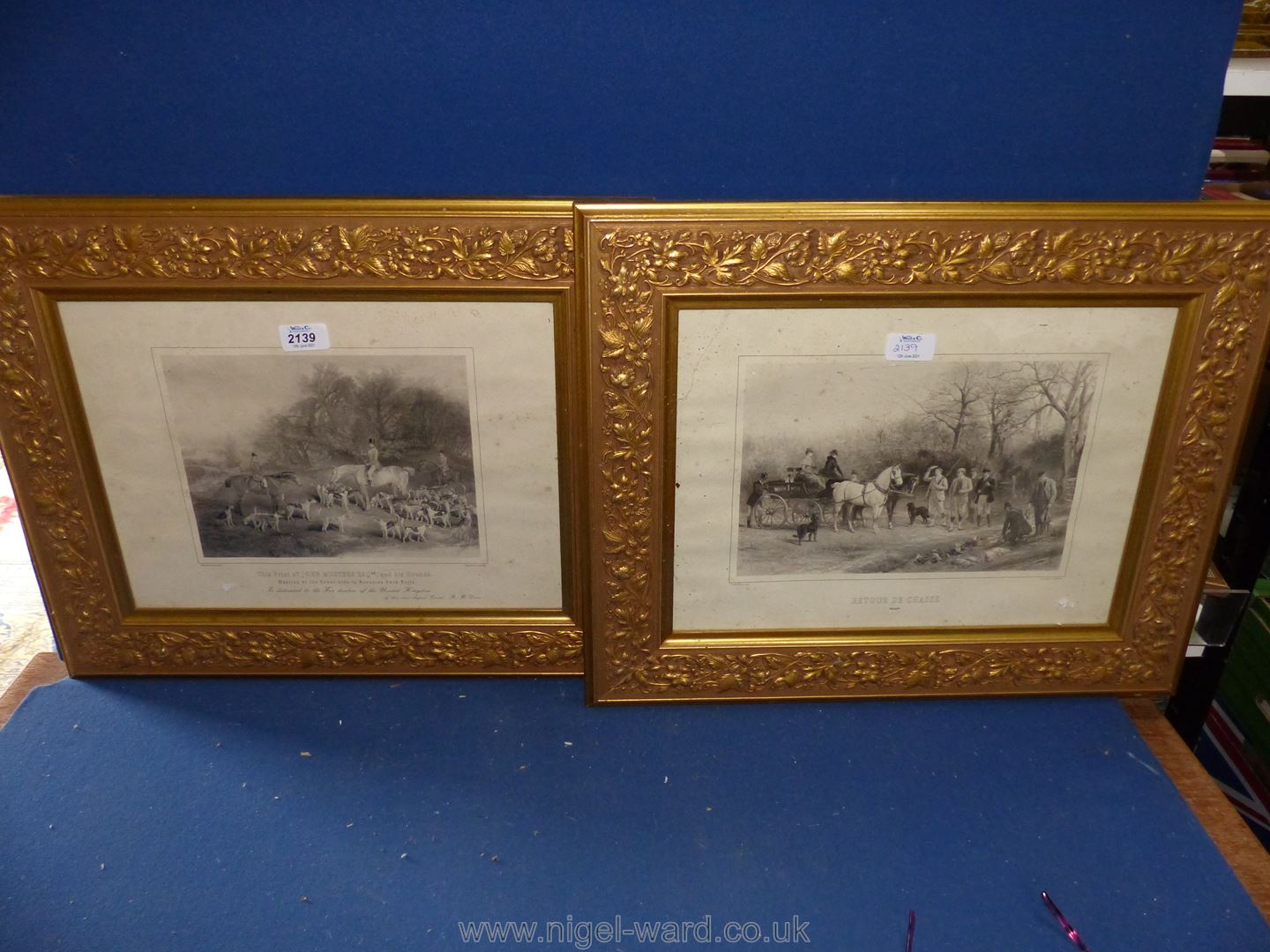 A pair of gilt framed Engravings by C.E. Wagstaff entitled ''John Musters Esq.
