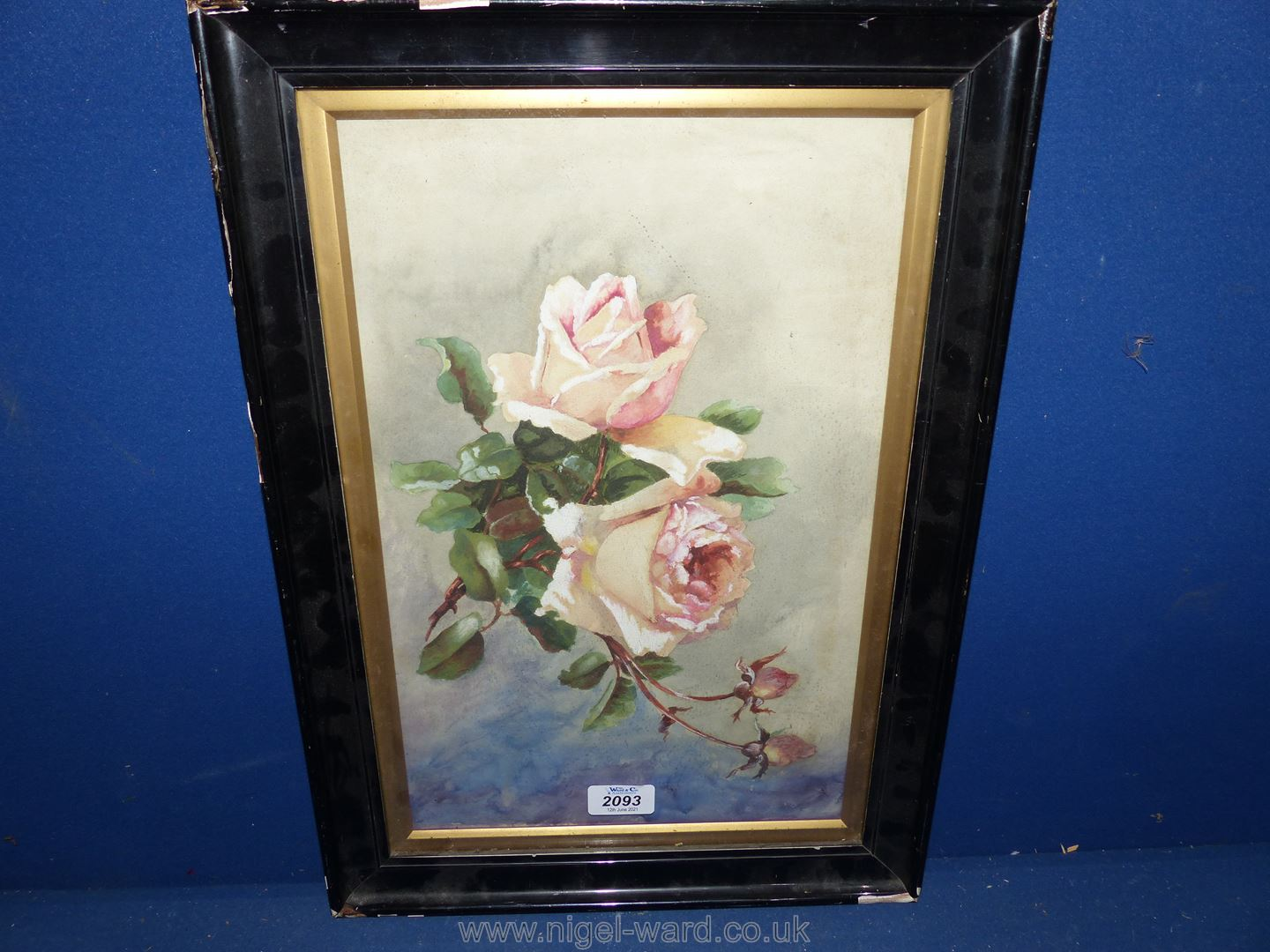 An Edwardian Watercolour of roses.