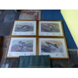 Four framed limited edition Prints by Richard J.