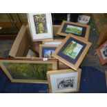 A large quantity of Prints including oriental, Debby Mason limited edition 'Dog' no.