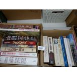 Two small boxes of books on The Wild West