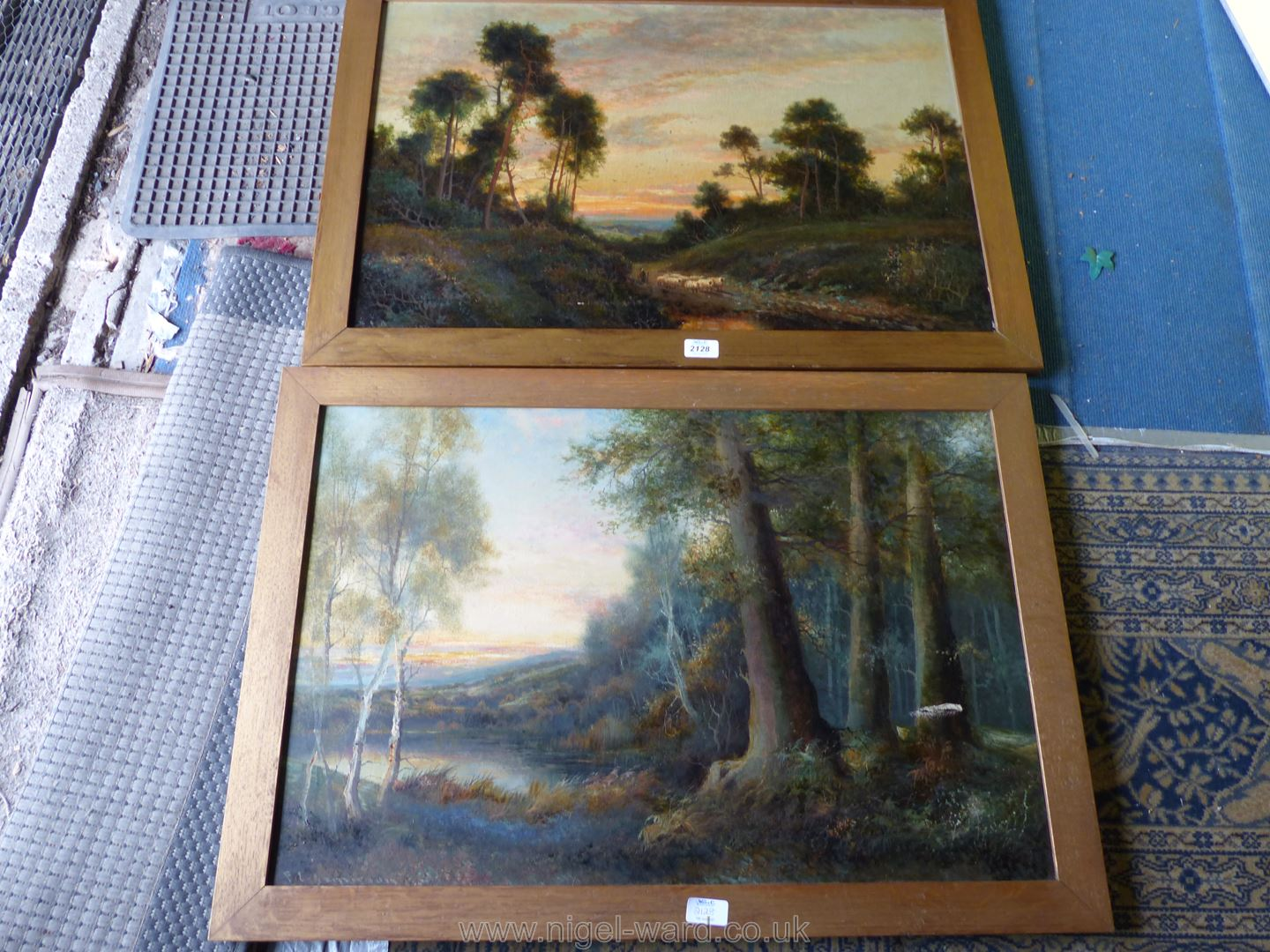 Two wooden framed F.E. - Image 2 of 2
