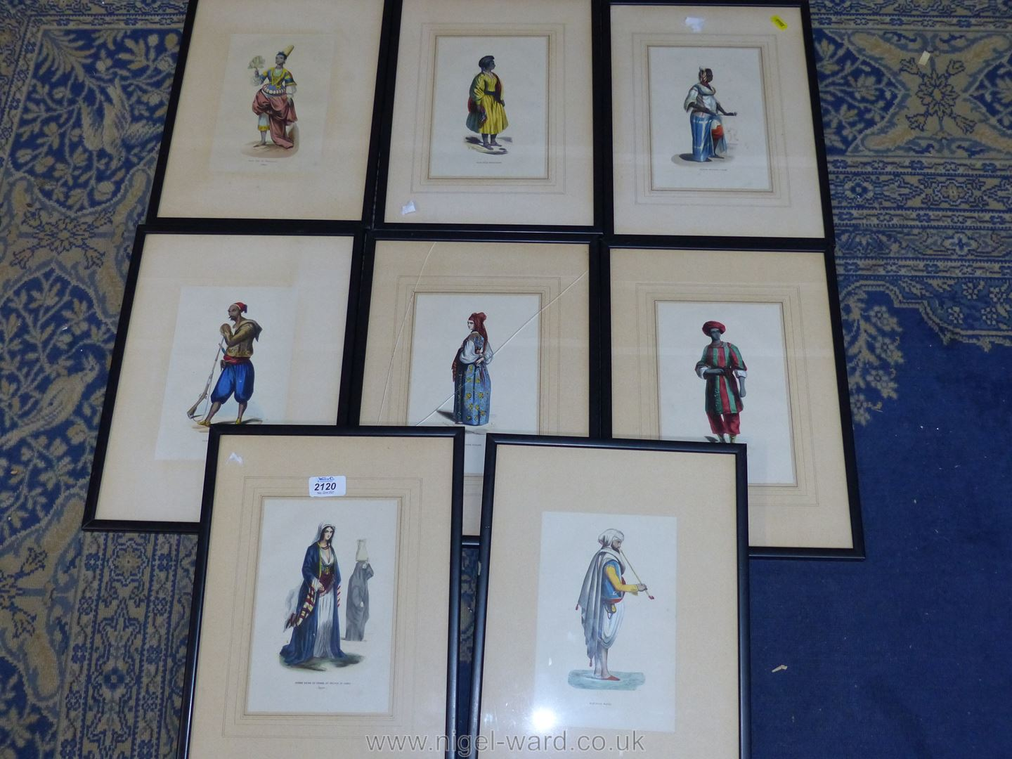 A quantity of framed Prints of French military uniforms - Image 2 of 3