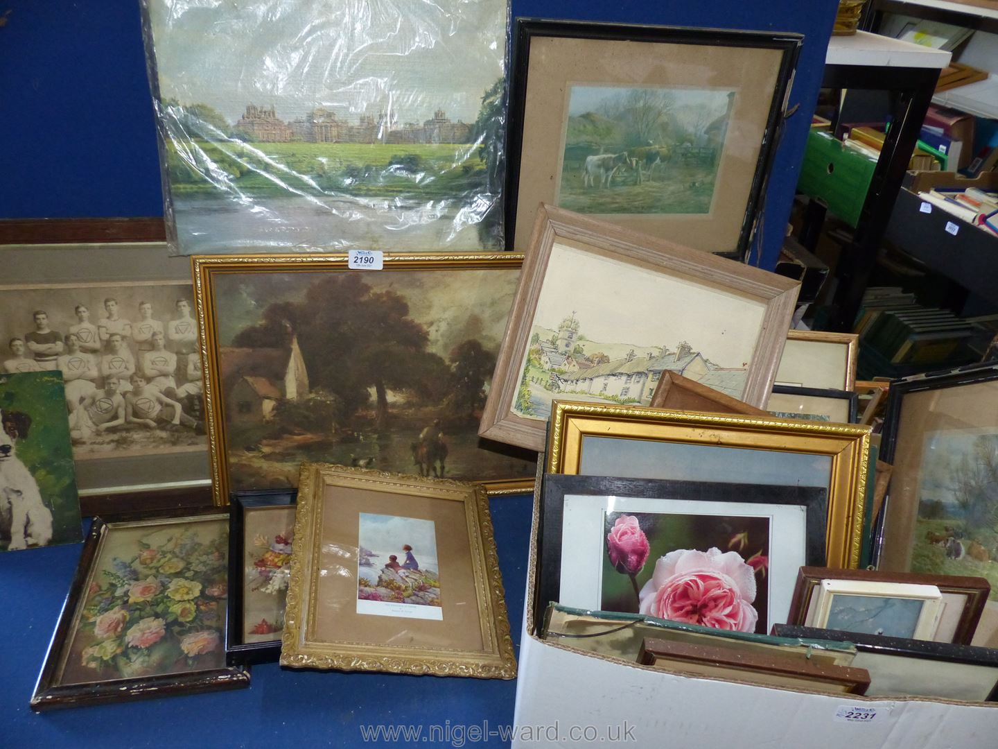 Assorted framed period pictures and other pictures. - Image 2 of 3