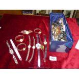 A large quantity of Ladies wristwatches including Sekonda, Unicorn etc, most a/f.