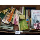 A box of novels including Kauo Ishiguro, Winifred Foley, etc.
