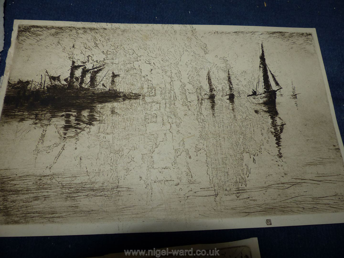**A box of artwork's to include original watercolours, cartoons, old hand coloured prints, - Image 9 of 9