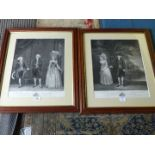 Two framed reproduction Prints dedicated to The Duke & Duchess of Marlborough by engraver James