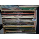 A box of LP's including The Sound of Music, Harry Secombe, Culture Club, etc.