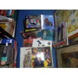 A large quantity of L.P's including Doors, Meatloaf, Picture Disc Anthem by Toyah, etc.