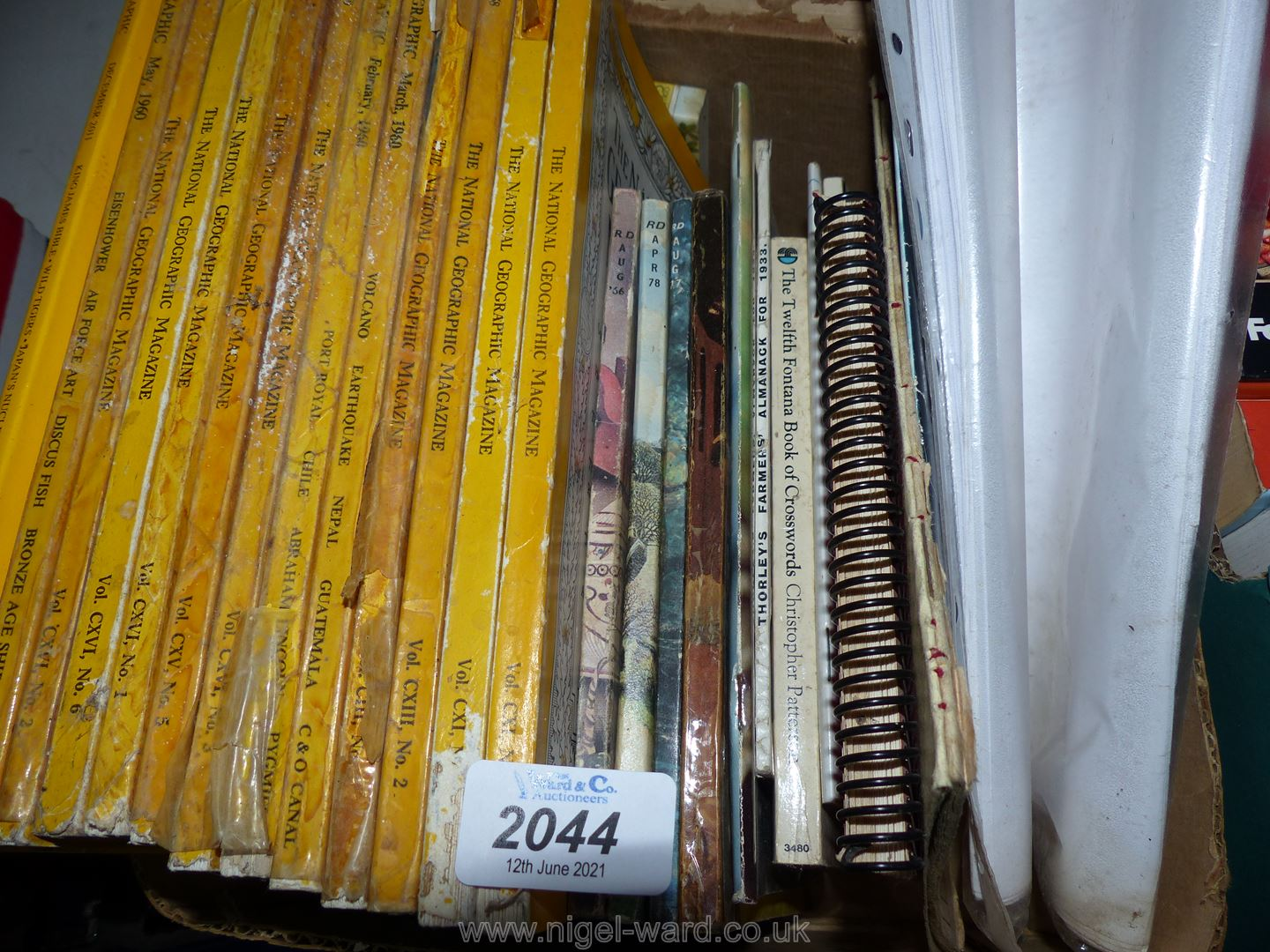 A box of geographic magazines from 1950's/60's,