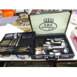 A briefcase of SBS Solingen cutlery (complete).