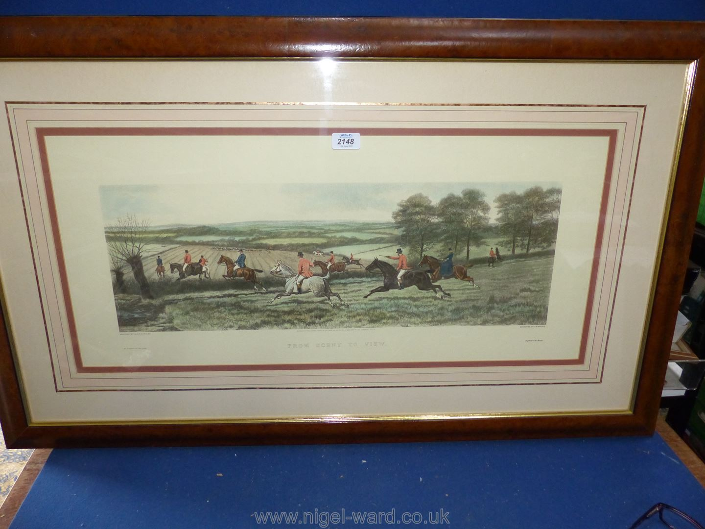 A large framed C.R. Stock Engraving from the painting by E.A.S.