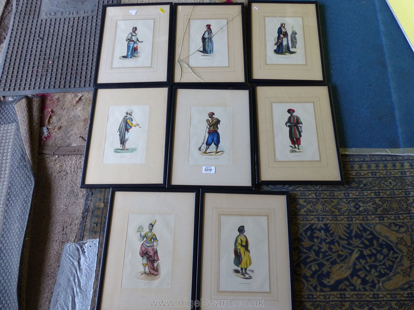 A quantity of framed Prints of French military uniforms - Image 3 of 3