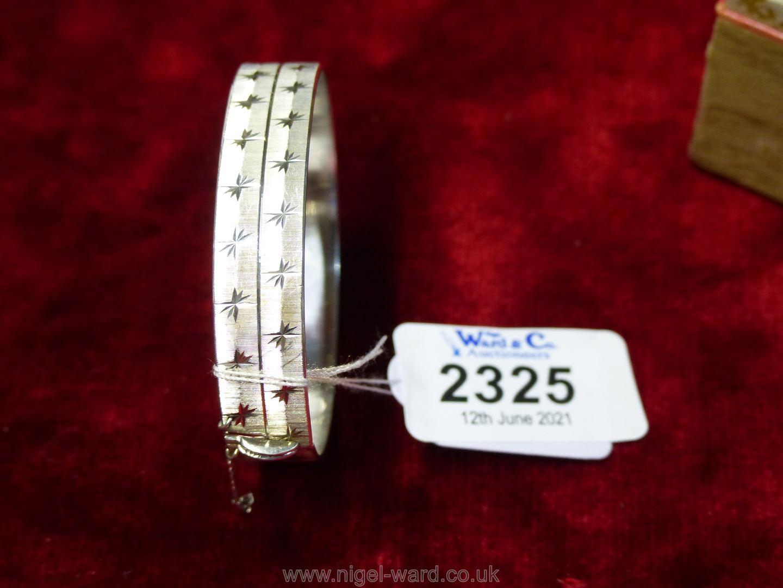 A silver bracelet, London maker, 23.