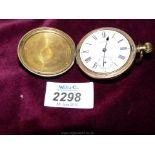 "A rolled gold cased ""AM Watch Co. Waltham Mass, Bond St."" gent's crown wound Pocket Watch, no."