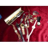 A quantity of Ladies wristwatches including Omac, Pierre Cardin etc., most a/f.