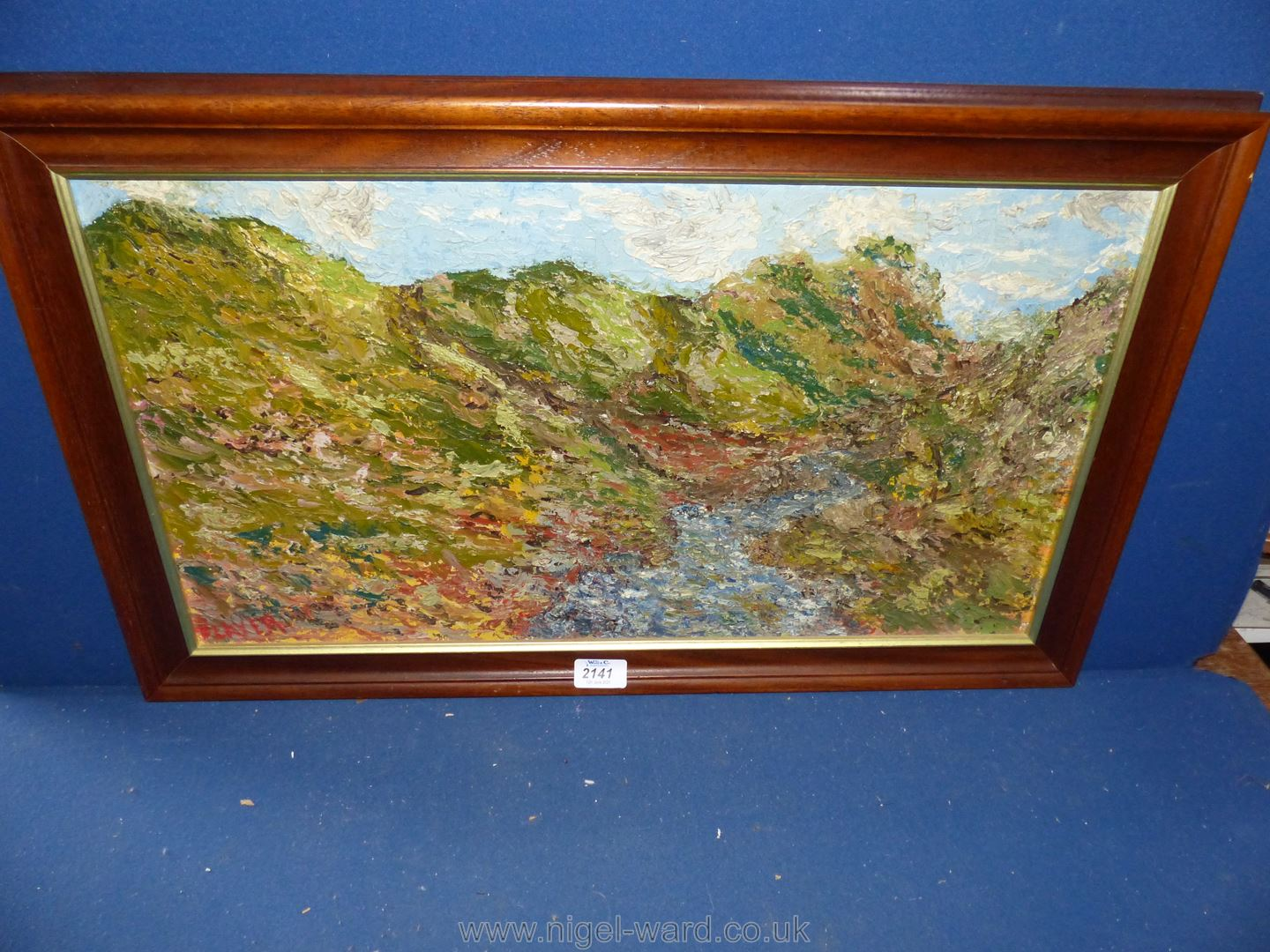 An Oil on board of Impasto Impressionist landscape, circa 1950, signed Player lower left,