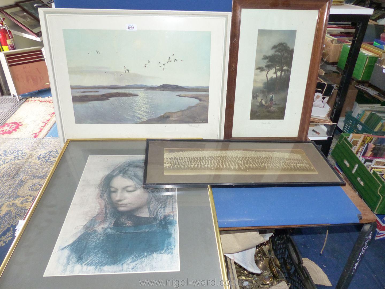 """A framed Print """"Gypsies Rest"""" by F.R."""