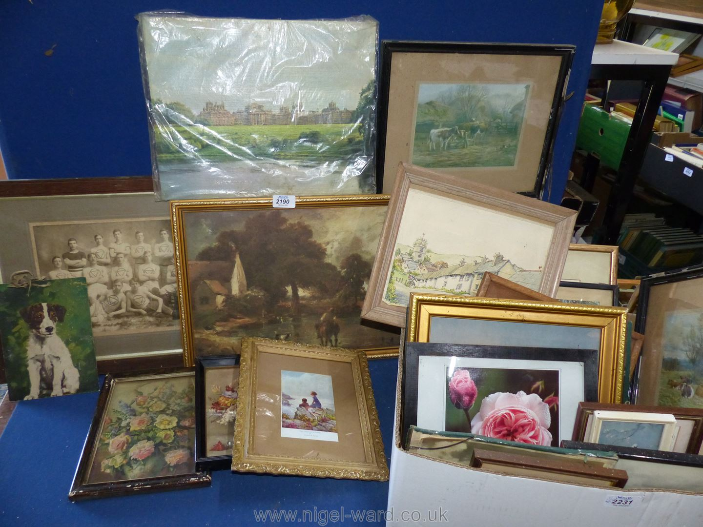 Assorted framed period pictures and other pictures. - Image 3 of 3