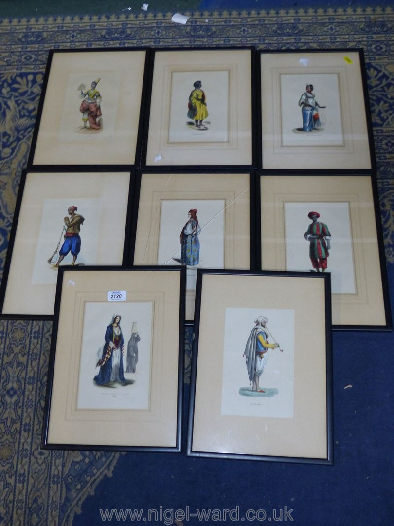 A quantity of framed Prints of French military uniforms