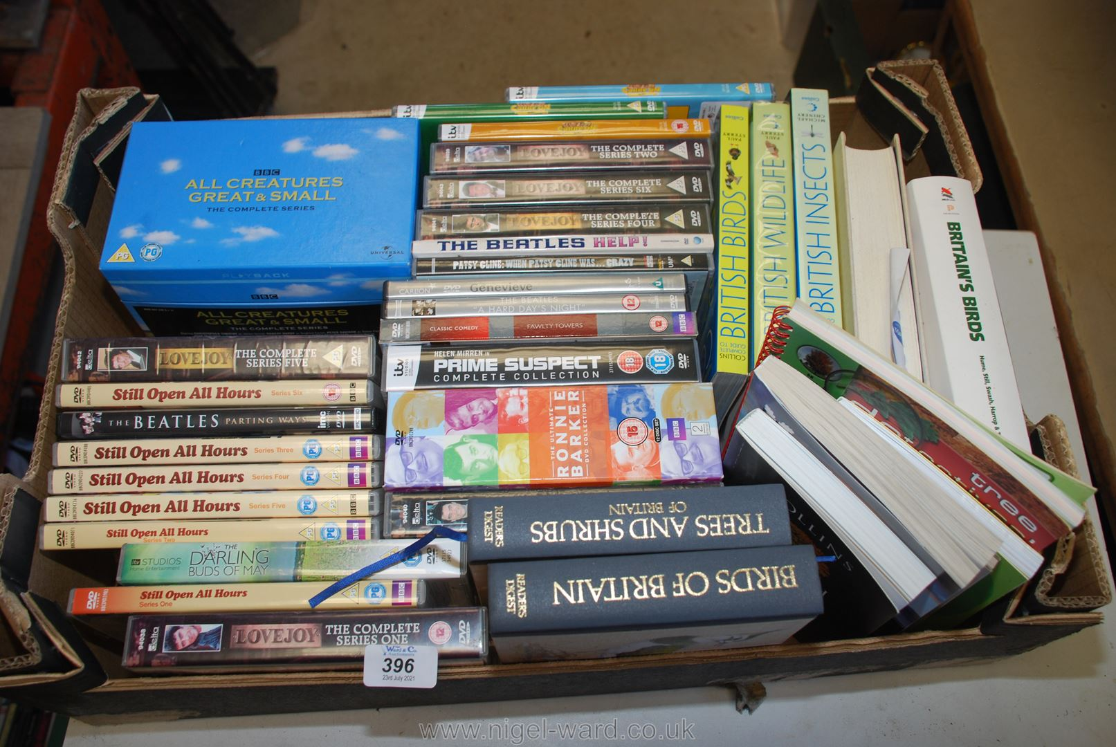 Box of DVD's incl.