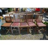 Eight dining chairs and two others for restoration.