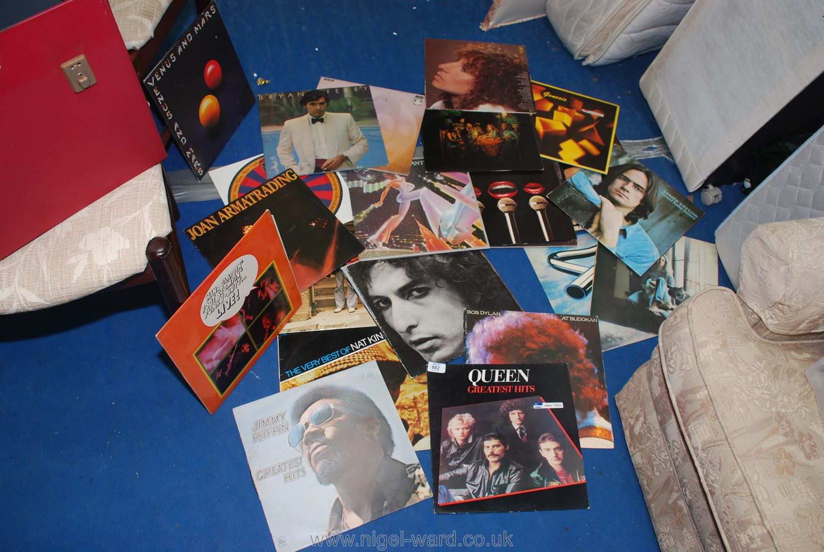 Collection of 70's & 80's LP's including Queen ,Genesis, Bob Dylan,