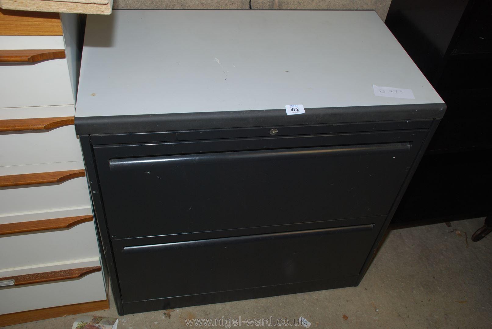 Metal office filing cabinet,