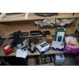 Quantity of various items including box Brownie camera, multi band radio,