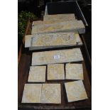 Quantity of mosaic tiles approx 5 linear meters, long and square.
