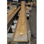 Five lengths of soft wood 7 1/2' x 1'' up to 189''.