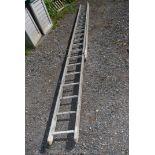 Aluminium extension ladder.