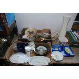 Quantity of decorative plates, vase,