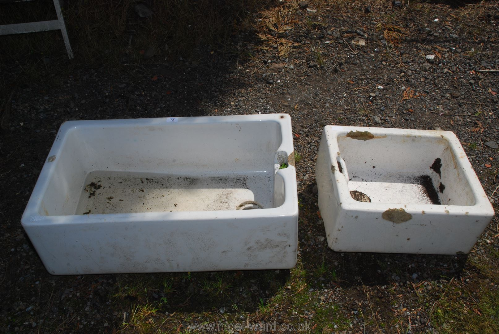 Belfast style sink 30'' x 18'' x 11'', plus one other.