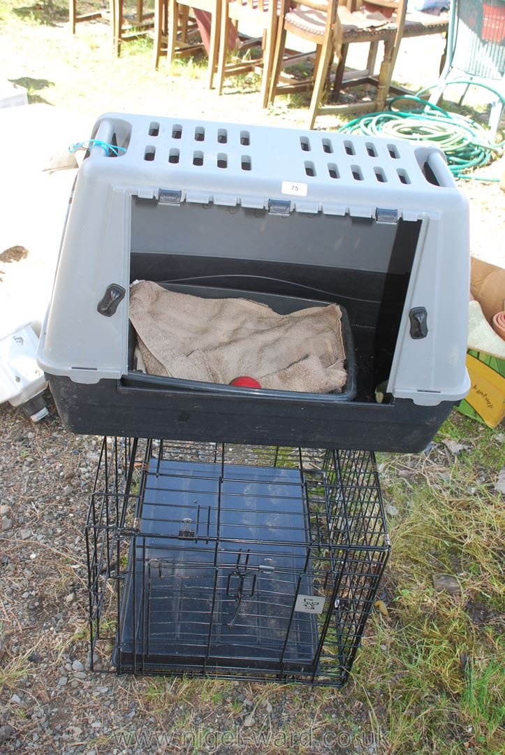 Pet cage and carrier, a/f, no door.