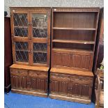 Three piece lounge display units with various cupboards over bases